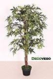 Erable Plante Arbre Artificielle Artificiel Plastique 120cm avec Bois Véritable Domaine Interne Decovego