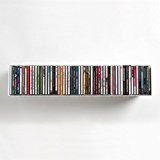 "Etagère range CD/DVD TEEbooks ""UCD"" - L 60 cm P 15 cm H 15 cm - Blanc"