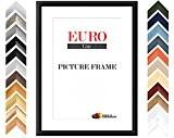 EUROLine35 cadre photo DIN A5 sur mesure pour des photos 14,8 cm x 21 cm, couleur: Black mat, fabrication sur ...