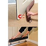 "Evelots 36"" Magnetic Clip On Door Draft Stopper, Energy & Money Saving, Brown"