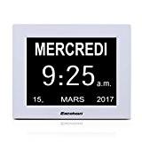Excelvan DC8001 Horloge Calendrier avec Date Jour et Heure