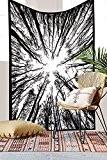 Exclusif Criquet arbres forêt Tapisserie unique Collection par rawyal Crafts, Hippie mur tapisseries, Couvre-lit Couvre-lit double, forêt Mandala Tapisserie de ...