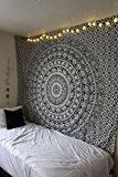 """Exclusif de la marque Noir et Blanc Mandala Tapisserie par """"rawyal, hindou Art Mural Tapisserie, Hippie mur suspendu"""