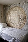 """Exclusif """"Golden Ombre par raajsee Tapisserie Ombre Parure de lit, Tapisserie Mandala, reine, Multi Couleur indien Mandala Mural Art bohème ..."""