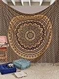 exclusif indien fait à la main Tapestrries par Raajsee, Ombre Parure de lit, Mandala Tapisserie, Queen, Multi Couleur indien Mandala ...
