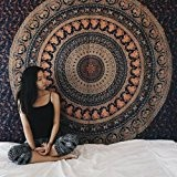 exklusiven Wandbehang Wandkunst Mandala Hippie-Elefant-Tapisserien, Large Siz...