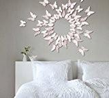 Extsud 12 Pcs 3D Papillons Stickers Muraux Stiker Mural Autocollants Maison Décor Style Moderne Bricolage Art Papillon Home Décoration avec ...