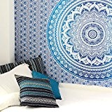 EYES OF INDIA - SIMPLE BLEU OMBRE TENTURE MURALE MANDALA COUVRE LIT TAPISSERIE Drap De Plage Décor