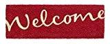 F&S Paillasson d'entrée RucoPrint Welcome fait de 100% fibres de Coco naturel 26 x 75 cm, 15 mm d'épaisseur. Couleur ...