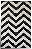 Fab Hab - Laguna - Noir & blanc Intérieur Extérieur/tapis (180cm x 270cm)