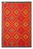 Fab Hab - Lhasa - Orange & Violet Intérieur Extérieur/tapis (120cm x 180cm)