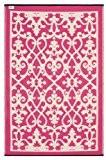 Fab Hab - Venice - Crème & rose Intérieur Extérieur/tapis (180cm x 270cm)