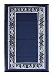 Fab Habitat Intérieur / Tapis extérieur Athènes - Bleu minuit & crème (90cm x 150cm)