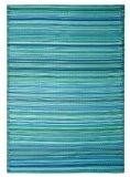 Fab Habitat Intérieur / Tapis extérieur Cancun - Turquoise & vert mousse (120cm x 180cm)