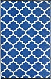 Fab Habitat Intérieur / Tapis extérieur Tanger - Régate bleu & blanc (180cm x 270cm)