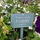 Fairies veille ici Panneau en bois avec inscription Garden Par RJB Stone Sass Belle