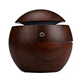 Fami Chambre LED Aroma Ultrasonic Humidificateur, Yoga Gym USB Huile Essentielle Diffuseur Purificateur d'air (Marron)