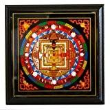 Feng Shui Import Tantra de Kalachakra Mandala Plaque puissant symboles