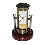 Fengfa, Hourglass Sablier de Trois minutes , minuterie de sable Cristal classique avec des sables pour le manteau Bureau de ...