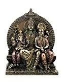 Figurine indienne dieux Shiva Parvati et Ganesha bronziert hindouisme Statue Inde