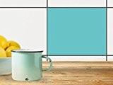 Film adhésif décoratif carreaux | Décoration murale - Personnaliser salle de bains | Design Vert Turquoise 3 | 25x20 cm ...