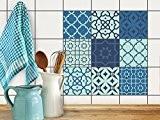 Film adhésif décoratif carreaux | Image style élegant - Individualiser baignoire | Design Ornements | 20x20 cm (9 pièces)