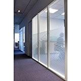 Film adhésif décoratif et transparent Rayures INT 213, décoration de vitre de magasin, restaurant, habitation, paroi de douche, plusieurs tailles ...
