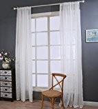 Fils de polyester Linge de lit Couleur unie Demi-ombrage Salon Chambre Le produit fini Barre d'usure Rideaux de fenêtre 1 ...