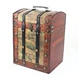 Finegiftsuk Coffre rétro et luxueux en bois avec couvercle arrondi