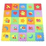 Fines Shop Puzzle pour enfant Motif véhicule 10 Tapis de dalles en mousse avec bords Play pour chambre maternelles 30*30cm ...