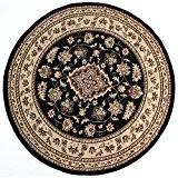 Flair Rugs Sincerity Sherbourne - Tapis rond (180cm x 180cm) (Noir)