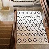 Flair Rugs Tapis berbère Nil Shaggy tapis tissé main 100% laine, ivoire, 160x 230cm