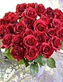 Fleurs artificielles, tissu synthétique/Gel de silice roses fleurs artificielles 2