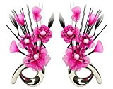 Flourish 794361 32 cm Assorties Lot de Mini Motif fleurs rose artificielles dans Vase
