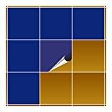 FoLIESEN Carrelage Adhésif pour cuisine et salle de bain–Bleu Roi Mat 20x 20cm–40pièces