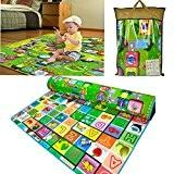 Fomccu Ramper Tapis de jeu pour enfant Lettre Alphabet Tapis pour bébé de jeu de jeu pour enfants pique-nique 180x ...