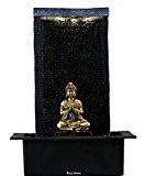 Fontaine d'intérieur Feng Shui Bouddha Zen 42 cm avec LED blanche