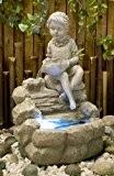 Fontaine d'intérieur Zen et Relaxante Statuette Petite Fille LED