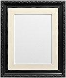 Frames by Post Cadre photo Verre en plastique avec passe-partout ivoire pour photo A3Taille, Noir, 30mm de large, 50x 40cm