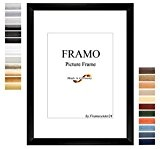 FRAMO 35mm Cadre photo sur mesure pour photos de 90 x 60 cm, couleur : Alu Criss Cross, cadre fait ...
