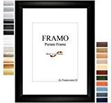 FRAMO 50mm Cadre photo sur mesure pour photos de 50 x 70 cm, couleur : Noir matt, cadre fait main ...