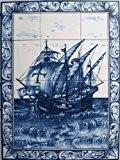 FRESQUE MURALE PEINTE de 60x45cm (12 carreaux de 15x15cm) – Peinture sur faience émaillée