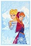 Frozen La Reine Des Neiges Disney Tapis (140x80cm) Bleu - Enfant - Style : Enfant
