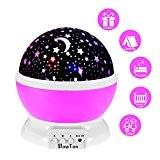 Galaxy ÉToiles Lampe De Chevet, SlowTon LEDs 3 Modes Romantique Colorée Starry Projecteur Rotatif Table Veilleuse Pour Les Enfants BÉBÉ ...