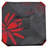 Galette de chaise anti-taches à rabats Lotus rouge