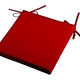 Galette de chaise d'extérieur 40x40 x5 cm couleur ROUGE gamme SUN OUTDOOR