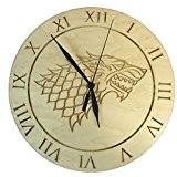 Game of Thrones Inspiré Maison Stark érable Horloge