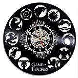 Game of Thrones Vintage Horloge vinyle décoration murale Cadeau