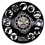 Game of Thrones Vintage Horloge vinyle décoration murale Cadeau