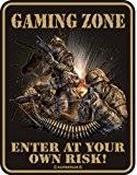 Gaming Zone Rahmenlos Plaque décorative humoristique vr456a